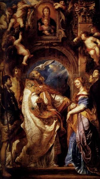Rubens Saint Gregory With Saints Domitilla Maurus And Papianus